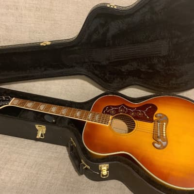 Vintage 1973 Maya MJ200 J200 Jumbo Copy Sunburst + Hard Case New Martin Strings Gorgeous Lawsuit Era VIDEO for sale
