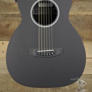 RainSong P12 Graphite Top Parlor Acoustic Electric-Guitar Black
