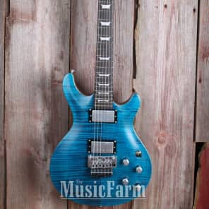 Dean ICON-FMF-TBLS Icon Flamed Top Solid Body with Floyd Rose Trans Blue Satin