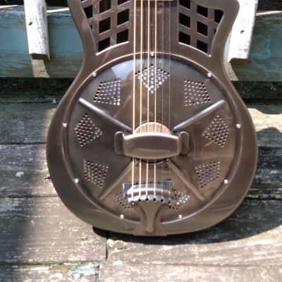 Republic Highway 61 cutaway resonator guitar brushed steel for sale