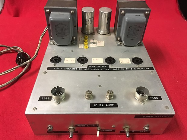 Stereo EL34/6L6 Tube Amplifier Output Chassis uses 2 Triad S-146A Output  Transformers used by Ampex