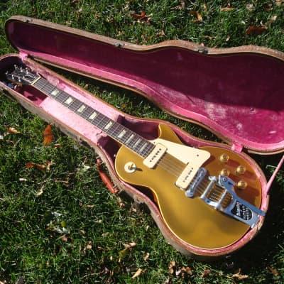 Vintage 1953 Gibson Les Paul Standard Goldtop -  Wraptail / Bigsby B-7 - Original Case - Killer! for sale