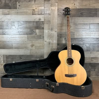 Carlo Robelli SB-100 E Acoustic Bass Guitar Natural w/Hard Case for sale