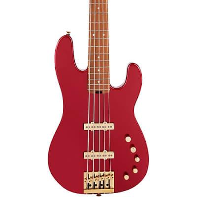 Charvel Pro-Mod San Dimas Bass JJ V, Candy Apple Red Metallic