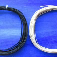 6 Feet Of Gavitt USA Black & White Vintage Style Cloth Insulated 22g Wire For Fender
