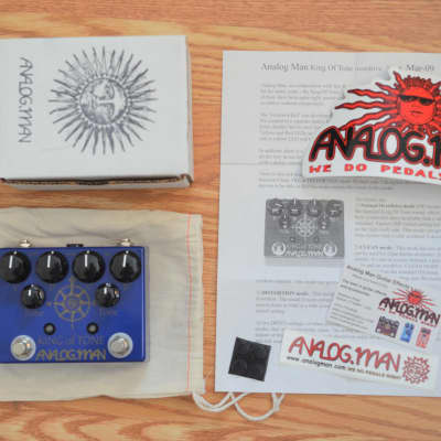 Analogman King Of Tone Overdrive Normal Gain w/ box & swag 2017 Blue