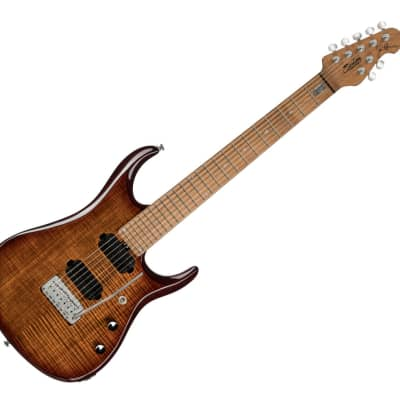 Sterling by Music Man JP157FM-ILB JP15 Signature in Flame Maple Island Burst, 7-String B-Stock for sale