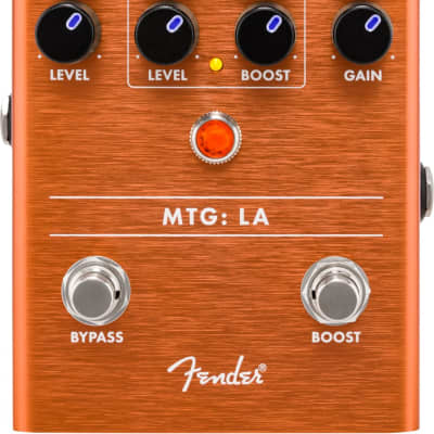 Fender MTG: LA Tube Distortion Guitar Effect Pedal for sale