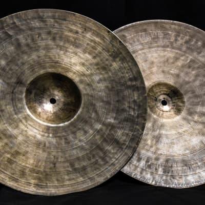 """K. Zildjian 14"""" Old Stamp Hi-Hat Cymbals (Pair) 1930 - 1958"""