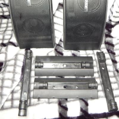 Bose 151 SE black outdoor speakers with plastic mount set