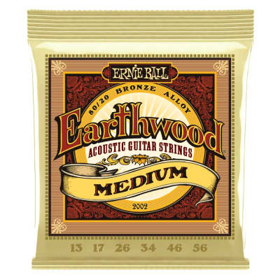 Ernie Ball 2002 Earthwood 80/20 Acoustic String Set, 13-56