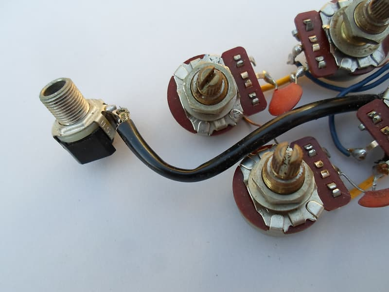 Gibson Sg 1975 Wiring Harness Pots  Switch Input Jack Vintage