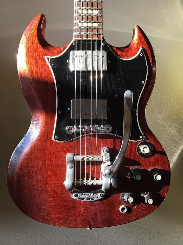 1969 gibson sg standard cherry with factory reverb
