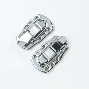 2x Drawbolt Closure Latch for Guitar Case or musical cases ,65x35mm Chrome