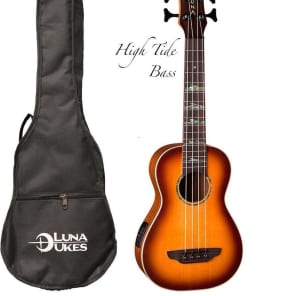 Luna High Tide Acoustic-Electric Bass Ukulele
