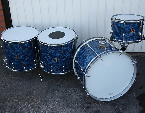 Premier Outfit 54 1960s Blue Marine Pearl 4 Piece Drum Kit