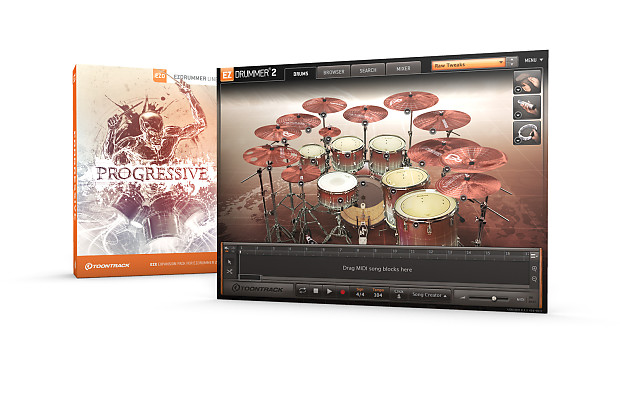 New Toontrack Progressive EZX Sound Expansion for EZDrummer 2 Software  Mac/PC --- SERIAL DOWNLOAD