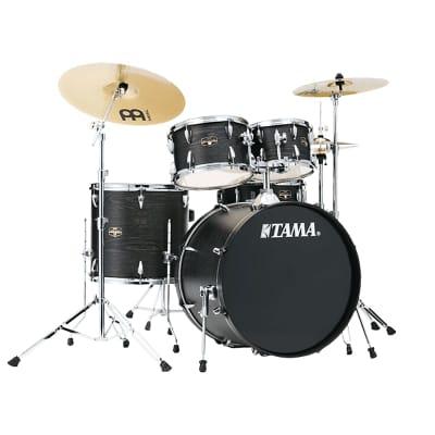 "Tama IE52KH6WBOA Imperialstar 10/ 12 / 16 / 22 / 5x14"" 5pc Kit w/ Meinl Cymbals (Black Oak Wrap)"