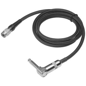 Audio-Technica AT-GRCW Right Angle Guitar Input Cable for Wireless Systems