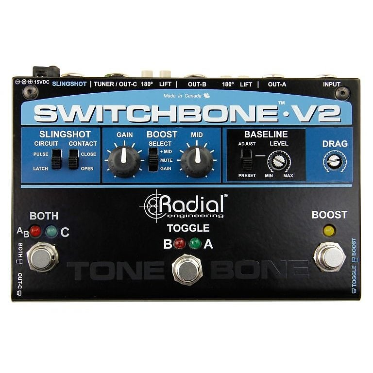 Radial Switchbone V2 ABY/C Amp Selector and Boost