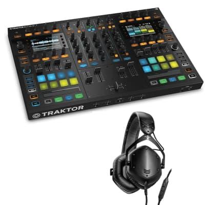 Native Instruments Traktor Kontrol S8 DJ Digital Controller - V-MODA Crossfade LP2 Special Edition (Matte Black)