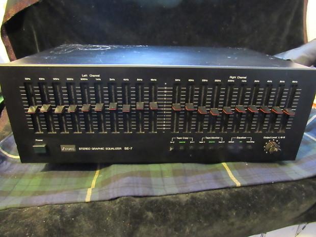 vintage sansui se 7 10 band stereo equalizer black cash reverb reverb