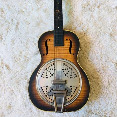 Melofonic Faux-Resonator 1930's-1940's Faux-flame sunburst for sale