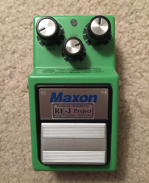 Maxon / Analogman Maxon OD9 Tube Screamer with Silver Mod Green
