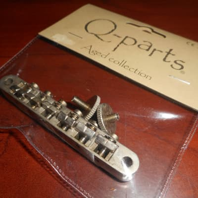 Q Parts Aged Collection ABR 1 Bridge For '62 Les Paul -  Distressed Nickel for sale