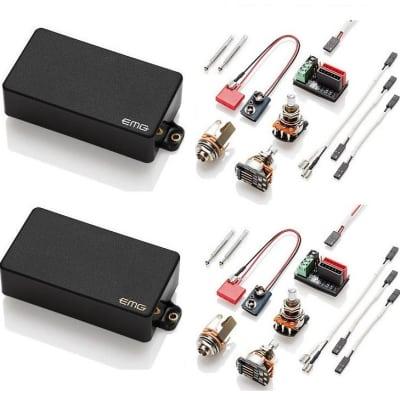 Outstanding Emg 81 85 Brushed Black Solderless Wiring Kit Reverb Wiring Digital Resources Indicompassionincorg