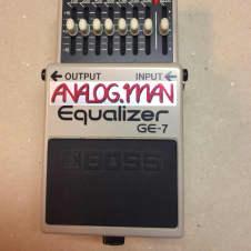Boss GE-7 Graphic EQ 2004 tan analogman mod.