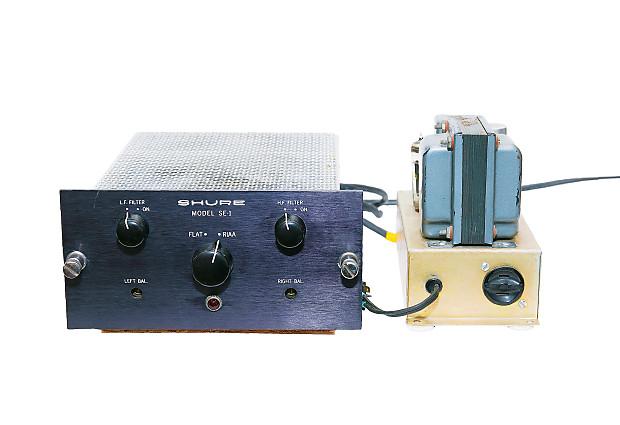 Shure SE-1 Tube Stereo RIAA Phono Preamplifier 1964