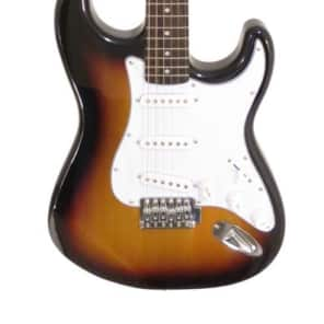 Effin Guitars model Effin Start/SB Sunburst Finish Strat Electric Guitar