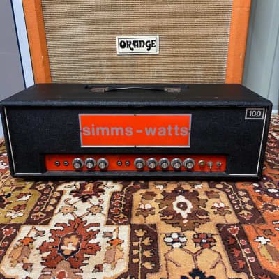 Vintage 1970s Simms Watts AP 100 AP100 100w MK2 Guitar Valve Amplifier Head for sale