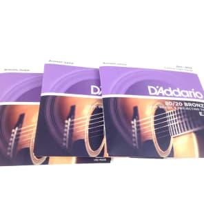 D'Addario EJ13 Acoustic Guitar Strings - Custom Light - 3 Pack for sale