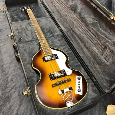 Jay Turser Violin Bass  with Epiphone HSC - 2000s Aged 3-Color Sunburst for sale