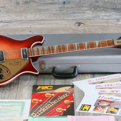 MINTY! 1991 Rickenbacker 660/12 Tom Petty Signature Fireglo 1st Year + COA OHSC for sale