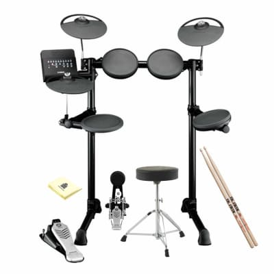 Yamaha DTX452K Complete Electronic Drum Kit included Double-Braced Drum Throne, Drum Sticks and Drum