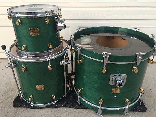 yamaha maple custom drum set kit excellent used drums for reverb. Black Bedroom Furniture Sets. Home Design Ideas