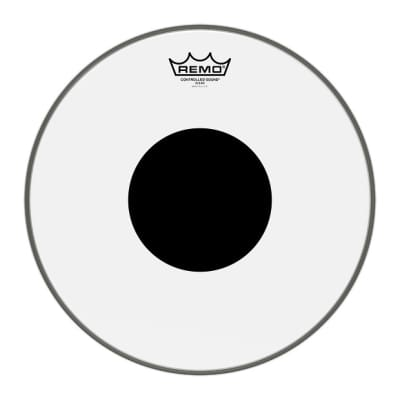 Remo Clear Controlled Sound Drumhead (Black Dot), 16 Inch