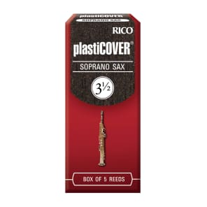 Rico RRP05SSX350 Plasticover Soprano Saxophone Reeds - Strength 3.5 (5-Pack)