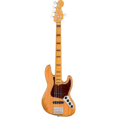 Fender American Ultra Jazz Bass V Maple Fingerboard Aged Natural for sale