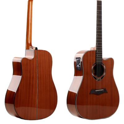 Deviser L-825-EQ Dreadnought Cutaway Acoustic / Electric Gloss Natural for sale