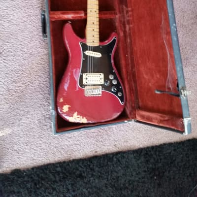 Vintage Fender Lead II with Maple Neck 1980 Red Signed By Allan Holdsworth for sale