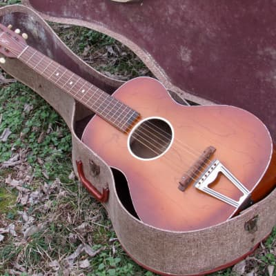 ~Near Mint~ 1955 Chris Adjustomatic Parlor Guitar w/ Original Case - Jackson Guldan Co - Harmony Kay for sale