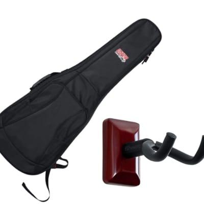Gator GB-4G-ELECTRIC Electric Guitar Gig Bag + Frameworks Wall Hanger (Cherry)