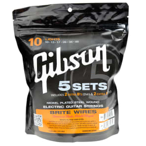 Gibson Brite Wires Electric Guitar 700L 10-46 5-pack