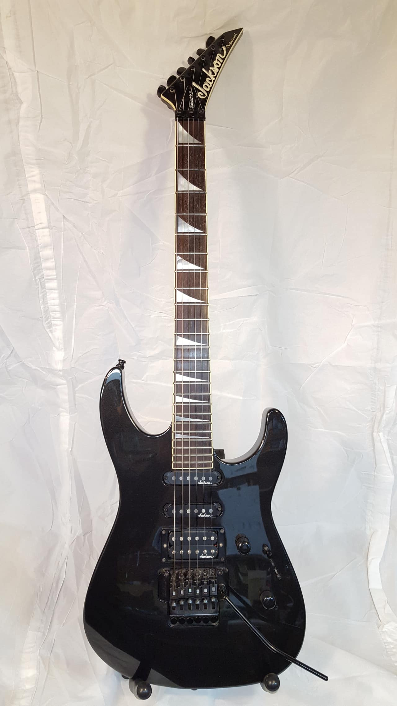 jackson soloist pro xl 1995 metallic black reverb. Black Bedroom Furniture Sets. Home Design Ideas