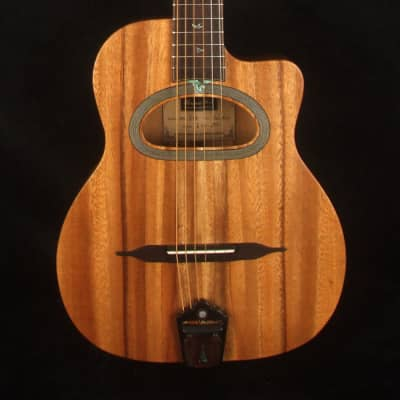Bruce Wei Solid Acacia Gypsy Travel Guitar Mop & Abalone Inlay GYG-2001 for sale
