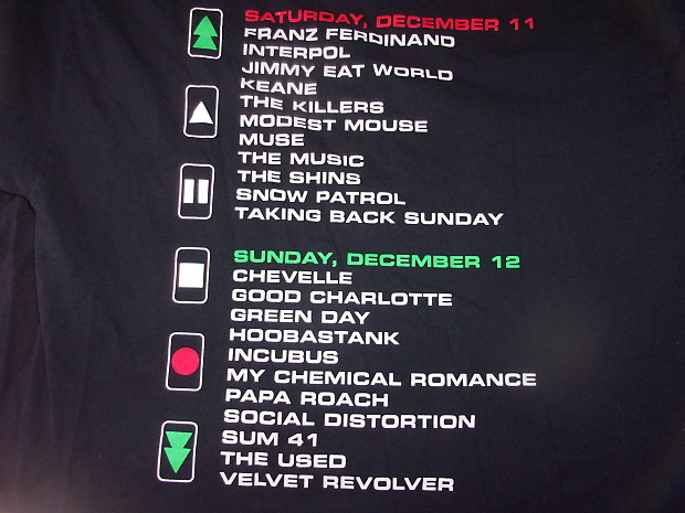 Kroq Almost Acoustic Christmas.2004 Kroq Almost Acoustic Xmas 2 Side Large Shirt Green Day Velvet Revolver Social D Incubus Killers